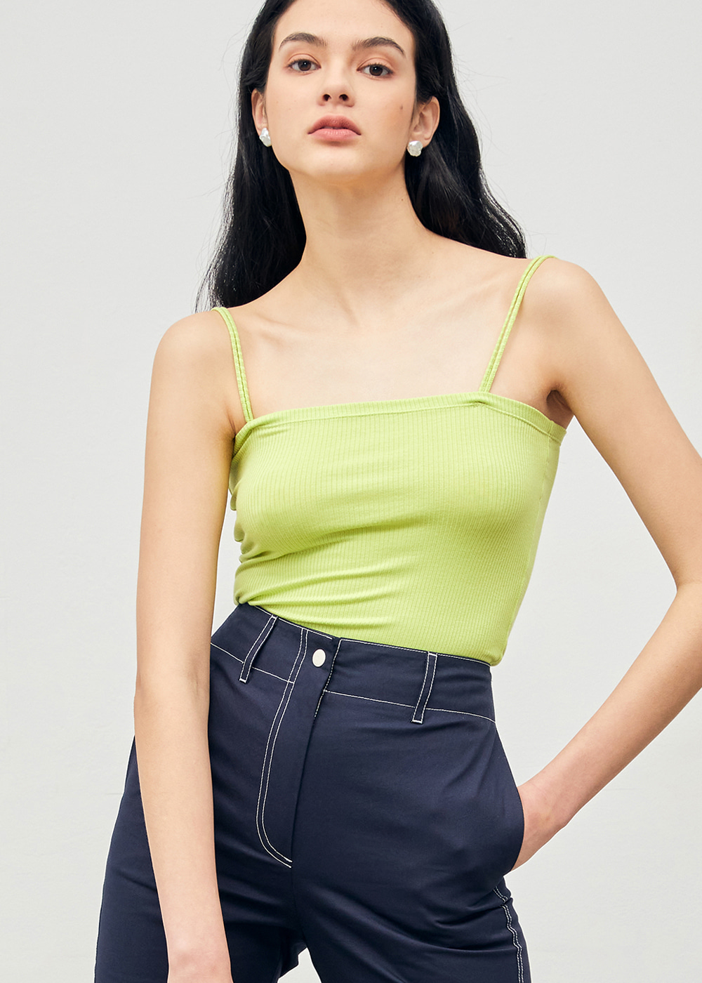 Soft Camisole Tank Lime
