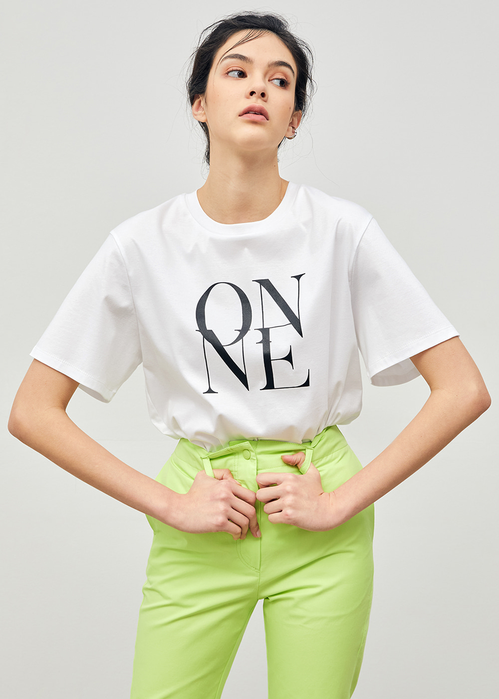 Tape-pointed ONNE T-Shirt White