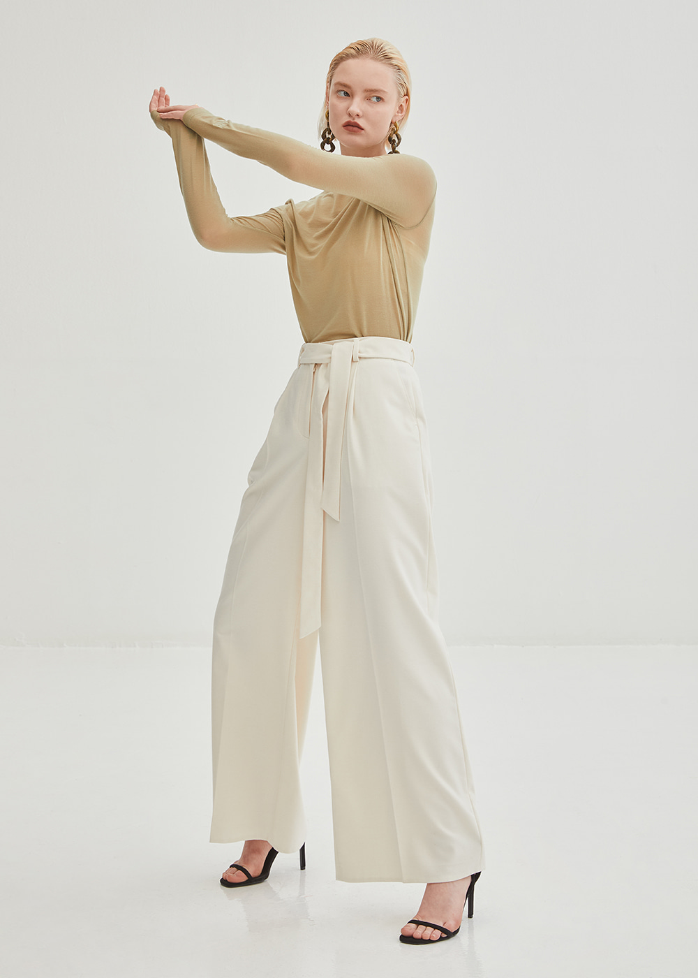 Classic Wide Wool Pants - Ivory