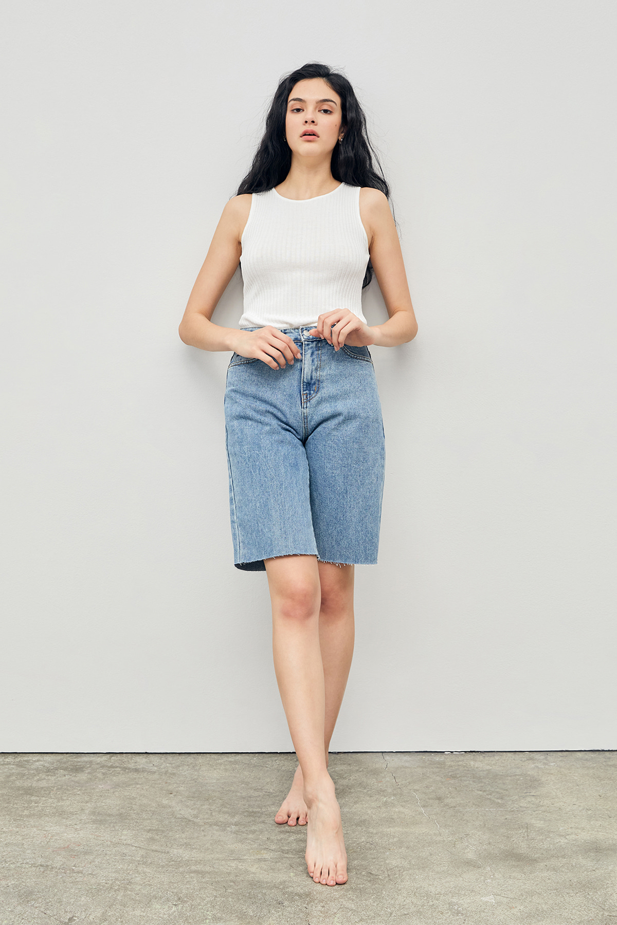 Daily Bermuda Denim Shorts Blue